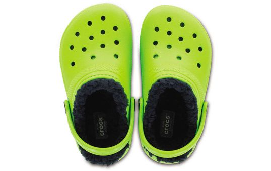 Lined-Clog-Kids-Verde