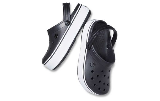 Crocband-Platform-Black-White