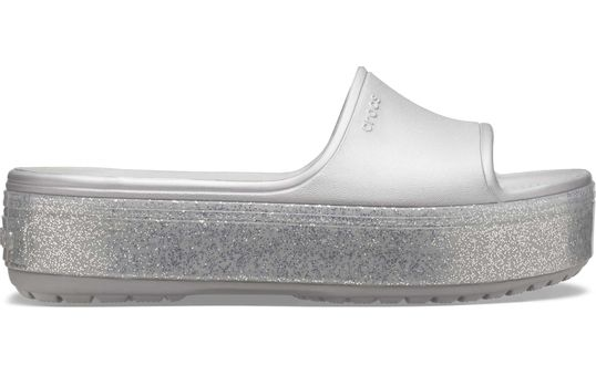 Crocband™-Platform-Metallic-Slide