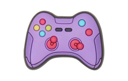 Jibbitz™-Purple-Game-Controller